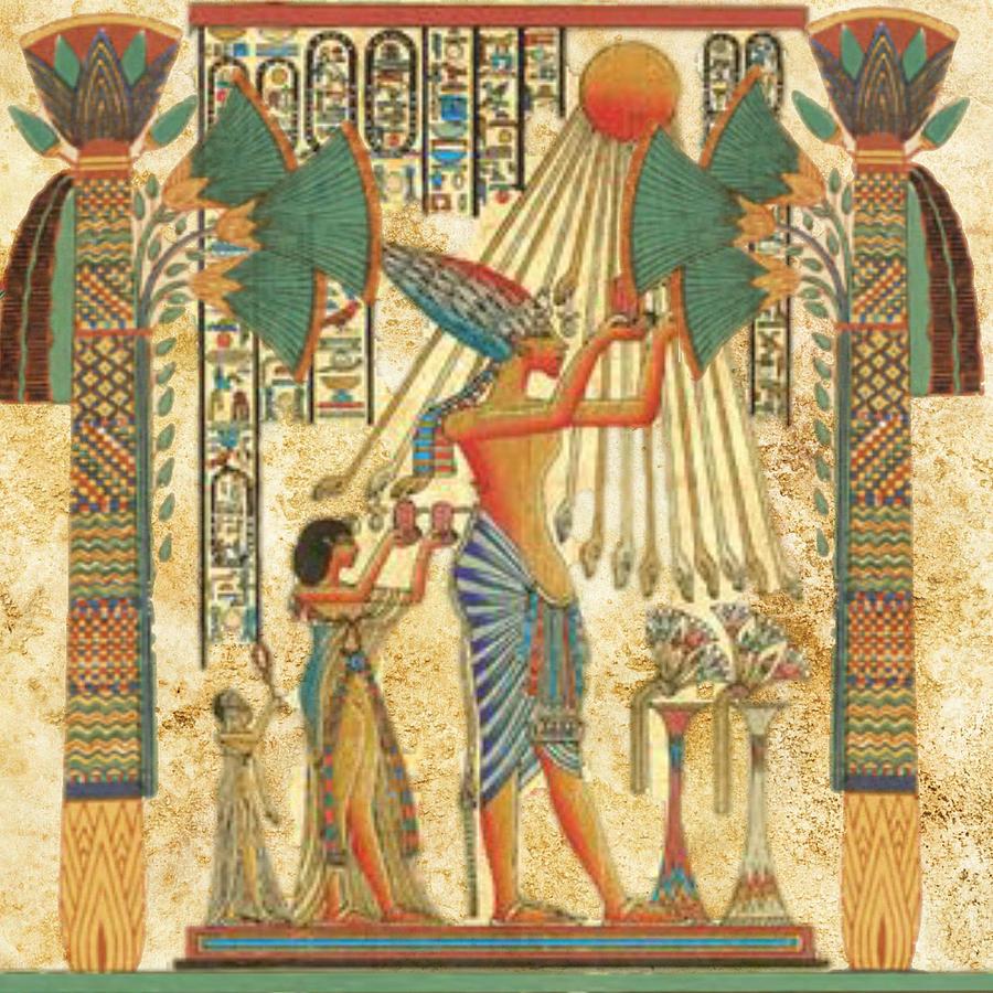 Ra (le dieu soleil) passant symboliquement les portes du monde des morts chaque matin